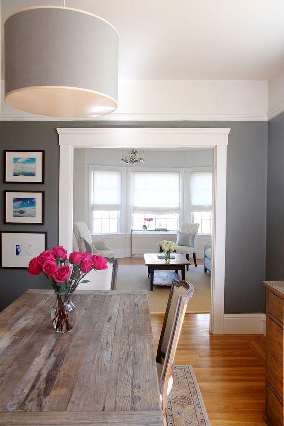 How to go gray gracefully hatchett design remodel - Gray paint living room ...