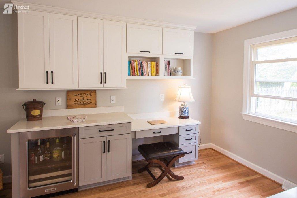 Kitchen Remodel, Desk, Storage, Wine Fridge
