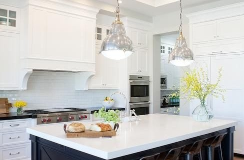 Cabinet Trends, White Cabinets, Colored Island, Black, Blue