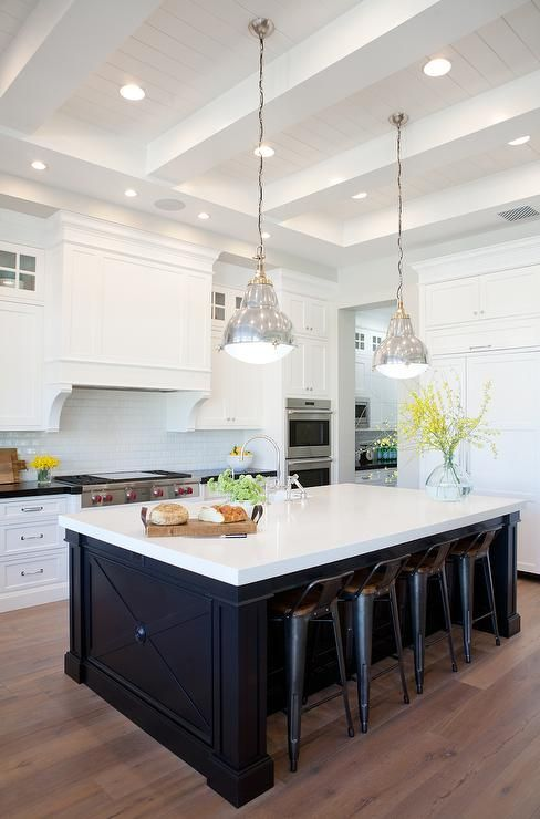 Cabinet Trends White Cabinets Colored Island Black Blue
